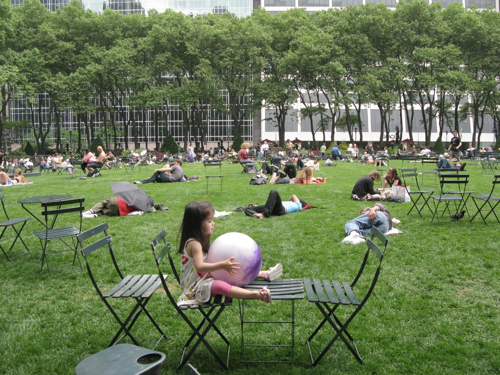 """Lunch Break in Bryant Park"" NYC 2002"