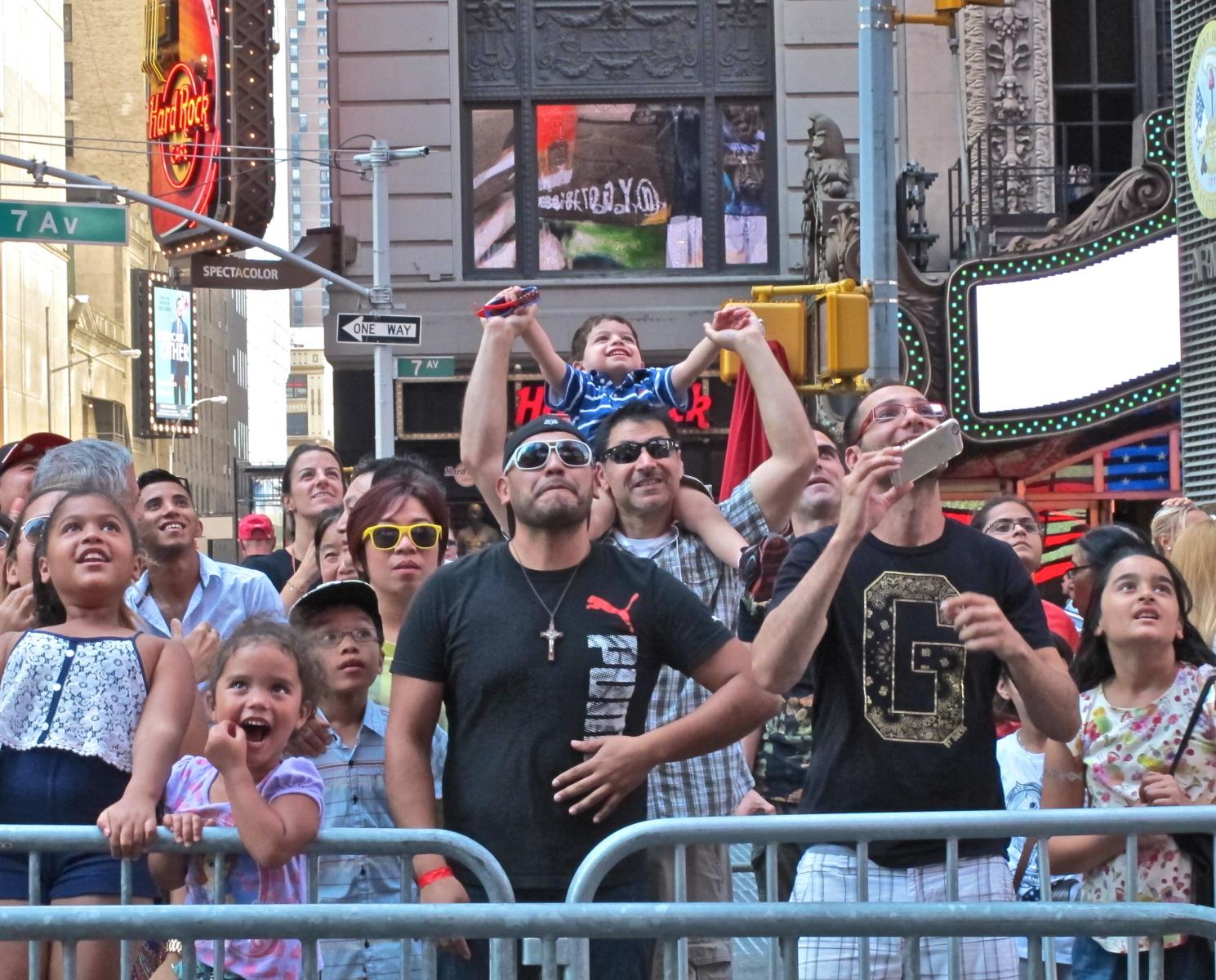 """Times Square Crowd"" 